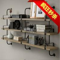 iron shelf bracket - Iron wood storage rack shelving wall hanging bracket shelf bracket clothing rack shelf shelf flower