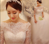 Wholesale Beautiful Long Sleeves Wedding Dress Hot vestidos de novia A line Bridal Wedding Dress