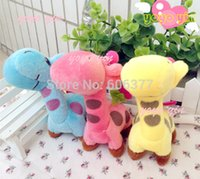 balls giraffe - CM Cartoon Miss giraffe Stuffed Plush Dolls Phone Charm Bag Pendant With Ball Charm