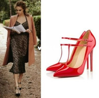Wholesale 2014 Women s Pumps Sexy Ladies Pointed toe Red Sole CM Classic Party Stiletto Thin High Heels Bridal Neon Nude Pumps XWD409
