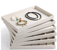 jewelry ring display - White linen Ring tray necklace tray earring tray Jewellery Display Stand jewelry case