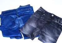 Wholesale Women Fashion Slim Soft Legging Slim Pencil Pants Black and Blue color set L XL
