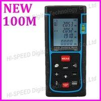 measuring tape - new upgraded RZ100 m ft Laser distance meter bubble level laser Rangefinder Range finder Tape measure