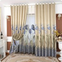 2015 home window decor dyed jacquard curtain gold tulip blackout curtains living room bedroom screens 3x26 m custom finished