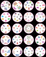 Wholesale Newest Nail Art Templates DIY silicone nail art templates colorful Scraper Stamping Tool with many design