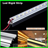 aluminum showcases - DHL Fedex m led rigid strip light led bar light SMD5630 DC12V m leds U Channel aluminum slot without cover showcase light