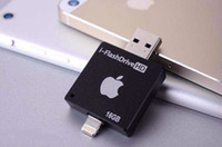 Wholesale 16G Mobile Phone Extended Memory Card USB i FlashDrive Flash Drive Memory Card Reader for iPhone iPad iOS