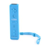 Wholesale 430155 chenbyi Remote with MotionPlus Silicone Sleeve Nunchuck Controller Set for Wii Blue x AA