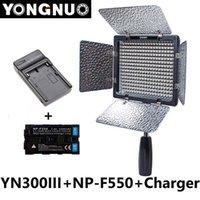 Wholesale Yongnuo YN300 III YN III K K CRI95 Camera Photo LED Video Light with mAh NP F550 Battery with Charger set