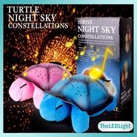 Wholesale Turtle Night Light Lamp LED Musical Turtle Toys Gift For Baby Chilldren Turtle Night Lights LED Stars Constellation LED Projector Toy Turtle