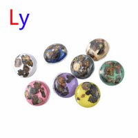 best clay bar - 50pcs Fashion ginger snap button charms round shell snap buttons for DIY snap chunk jewelry best gifts AC070