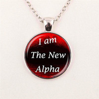 alpha copper - Retail teen wolf inspired I am the new Alpha pendant necklace fashion movie Jewelry pendant glass gemstone necklace
