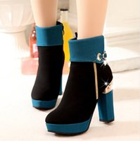 Wholesale In the new winter boots with high heels boots thick thick with female boots bottom short boots dgxgxs