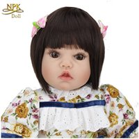 reborn baby doll - 20 Inch Soft Vinyl Silicone Reborn Baby Dolls Reborn Toddler Real Babies Girl Gifts Cute LifelikeToys