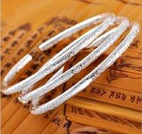 al por mayor pulseras tibetanas-Pulsera de plata fina de Bohemia 999 pulseras de plata de la joyería de la plata esterlina para las mujeres Pulsera del amor Plata tibetana