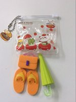 fancy bags - US Fancy Design Rubber Erasers Orange Handbag Schoolbag Green Umbrella Slippers Cleaning Erasers In a Bag In Stock