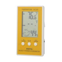 Wholesale Electronic New Thermostat LCD Digital Thermometer Hygrometer Temperature Humidity Meter w Wired External Sensor Tester