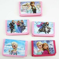 Wholesale Baby girls Frozen purse Elsa Anna cartoon wallet change pocket Frozen purse styles mixed kids bags