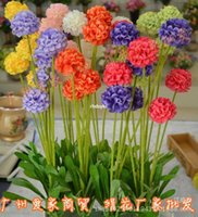 Wholesale Silk Hyacinth Flowers - 10pcs free shipping Silk Artificial Flowers artificial flowers Artificial silk lavender flower hyacinth grass ball fake flowers onion ball s