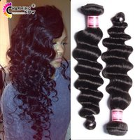 Wholesale 3 Bundles deep wave malaysian human hair extension cheap unprocessed a wavy weave hair wet wavy ocean wave malaysian curly hair extension