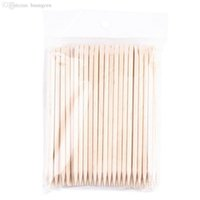 Wholesale Newest Nail Art Orange Wood Stick Cuticle Pusher Remover for nail art care Manicures nail tools Hot Selling