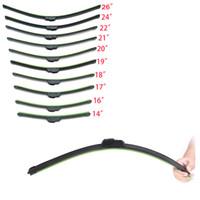 Wholesale Hot Sale Universal U type Wiper Frameless Car Windshield Wiper Blade Bracketless Soft Rubber Blade Windscreen with all Different