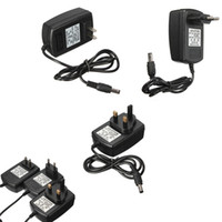 Wholesale Universal EU Plug For LED Strips CCTV Security Camera For DC V A Power Supply AC Adapter Charger