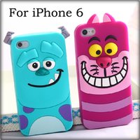 Wholesale For iPhone inch iPhone Plus inch Lovely D Cartoon Case Tiger Animal Monster Tigger Cover Soft Silicone High Quality Back Shell
