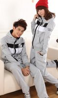 Cheap 2014 Spring Couple Ban Suit suit casual sportswear for men and women the same paragraph sweater + pants