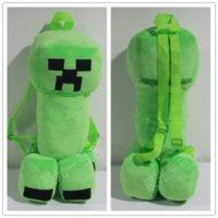 Wholesale 3pcs AAAA quality New creative Minecraft Creeper backpacks Minecraft plush dolls backpacks Minecraft bags ceramic backpacks