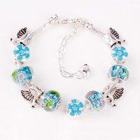 Wholesale Bohemian style of the original single glass beads bracelet bracelet alloy drip