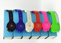 Wholesale Bluetooth headphone Stereo DJ Headphone Fashion Foldable Noiseproof DJ Headset Earphone with Retail Box for iphone ipad ipod cell phone