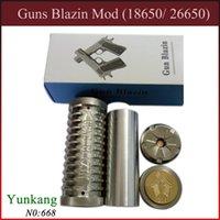 Cheap Cool Guns Blazin Mod 18650 26650 Mechanical Mod Clone Stainless Steel eCig Mod Adjustable Pole 510 Thread VS Panzer Hades Nemesis Mod