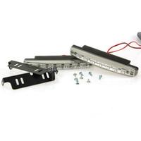 Cheap Car Truck Van Daytime Running Light Head Lamp White 8 LED DRL Daylight Kit
