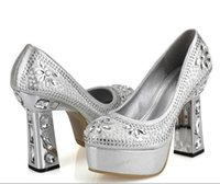 Cheap Glitter gold silver rhinestone wedding shoes for bridal shoes crystal shoes prom gown 4 colors Size 34 to 39