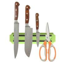Wholesale 5 Colors High Quality Strong Magnetic Knife Holder Tool Rest Shelf For Kitchen Pub Bar Counter Black Knife Holder