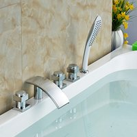 bathroom sink supports - And Retail Polished Chrome Brass Waterfall Bathroom Tub Faucet W Hand Shower Mixer Tap Sink Mixer Tap