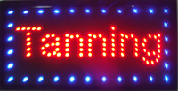 Wholesale High qualtiy arriving customized led light signs led tanning signs size cm cm semi outdoor