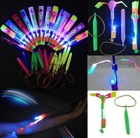 arrow express - Amazing Led Light Arrow Rocket Helicopter Flying Toy Party Fun Gift Elastic Fast Express