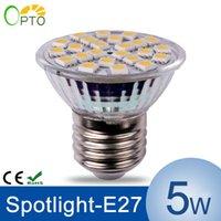 Wholesale 12pcs E27 W LED Spotlight AC185 V SMD5050 High Strength LED Bulb Lamp Spot Light Warm White White