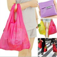 Wholesale Candy color Japan Baggu Reusable Eco Bags Friendly Shopping Tote Bag pouch Debris bags Environment Safe Go Green Bag