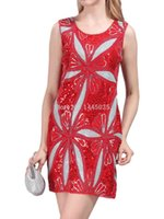 Wholesale Women s Art Deco Maxi Flower Bloom Sequin Flapper Party Dress FN1413