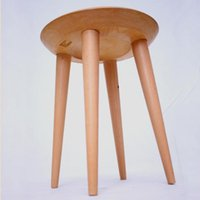 Wholesale Beladesign European Pastoral Solid Wooden Stool Wood Hand carved Solid Wood Stool