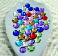 Wholesale 4000pcs set Mixed mm Round Acrylic Crystal Flatback Acrylic Rhinestone Gem Clothing Jewelry DIY