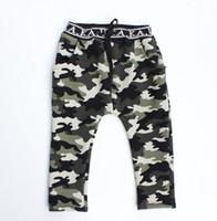 Wholesale 2014 Winter Children Pants Fashion Camouflage Kids Casual Harem Pants Thicken Add Wool Warm Boy Girl Sport Pants WD489
