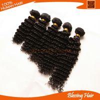 Wholesale 6A Unprocessed curly peruvian virgin hair inch mixed length B cheap deep wave peruvian hair weaves