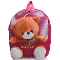 bear backpack - New Children School Bags Cartoon Bear Backpack For Baby Mochila Infantil Retail PC ZZ3056