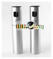 Wholesale Christmas Gift Stylish Stainless Steel Cooking Olive Oil Vinegar Pump Sprayer Dispensers Cruet Set Bottle Set