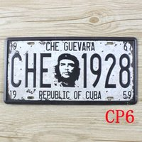 Wholesale CP6 CHE GUEVARA Car license plate Vintage Metal Tin Signs Bar Pub Cafe Home Art Metal Signs Size cm