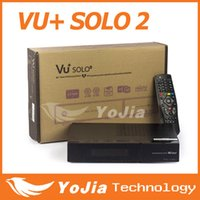 Receivers digital satellite receiver tv receiver - 1pc Vu solo2 twin tuner decoder vu solo2 Linux reciever MHz CPU dvb s2 tuner STB digital satellite tv receiver europe fedex freeship